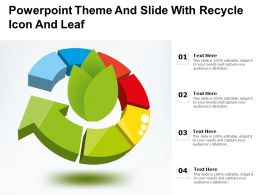Powerpoint Theme And Slide With Recycle Icon And Leaf