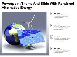 Powerpoint Theme And Slide With Rendered Alternative Energy
