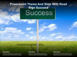 Powerpoint Theme And Slide With Road Sign Success