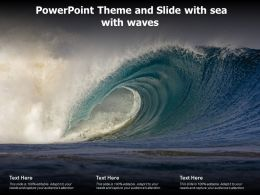 Powerpoint Theme And Slide With Sea With Waves