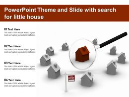Powerpoint Theme And Slide With Search For Little House