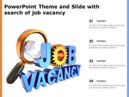 Powerpoint Theme And Slide With Search Of Job Vacancy