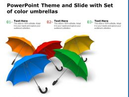 Powerpoint Theme And Slide With Set Of Color Umbrellas