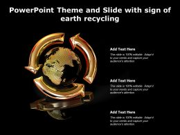 Powerpoint Theme And Slide With Sign Of Earth Recycling