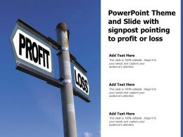 Powerpoint Theme And Slide With Signpost Pointing To Profit Or Loss