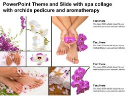 Powerpoint Theme And Slide With Spa Collage With Orchids Pedicure And Aromatherapy