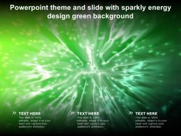 Powerpoint Theme And Slide With Sparkly Energy Design Green Background