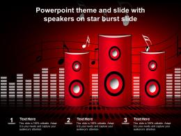Powerpoint Theme And Slide With Speakers On Star Burst Slide