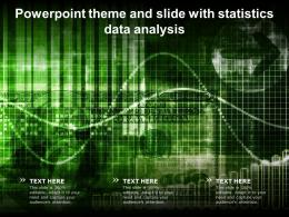 Powerpoint Theme And Slide With Statistics Data Analysis