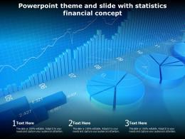 Powerpoint Theme And Slide With Statistics Financial Concept