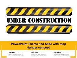 Powerpoint Theme And Slide With Stop Danger Concept