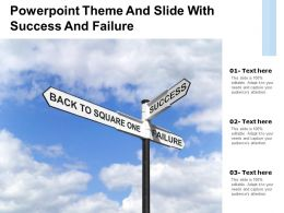 Powerpoint Theme And Slide With Success And Failure
