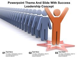 Powerpoint Theme And Slide With Success Leadership Concept