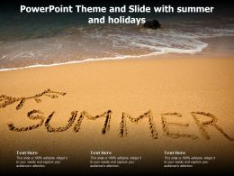 Powerpoint Theme And Slide With Summer And Holidays