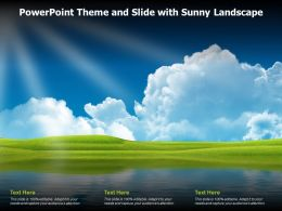 Powerpoint Theme And Slide With Sunny Landscape