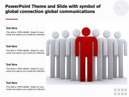 Powerpoint Theme And Slide With Symbol Of Global Connection Global Communications