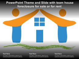 Powerpoint Theme And Slide With Team House Foreclosure For Sale Or For Rent