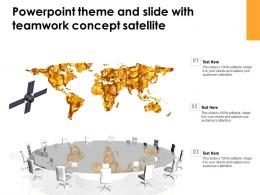 Powerpoint Theme And Slide With Teamwork Concept Satellite