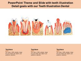 Powerpoint Theme And Slide With Teeth Illustration Detail Goals With Our Teeth Illustration Dental