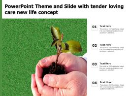 Powerpoint Theme And Slide With Tender Loving Care New Life Concept