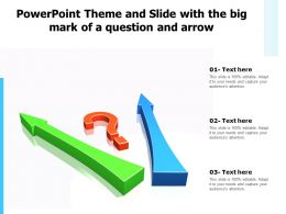 Powerpoint Theme And Slide With The Big Mark Of A Question And Arrow