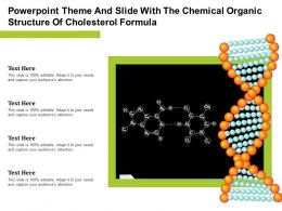 Powerpoint Theme And Slide With The Chemical Organic Structure Of Cholesterol Formula