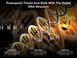 Powerpoint Theme And Slide With The Digital DNA Structure