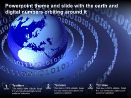 Powerpoint Theme And Slide With The Earth And Digital Numbers Orbiting Around It