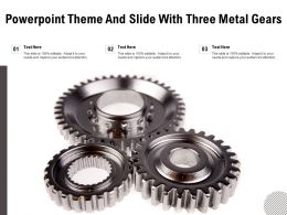 Powerpoint Theme And Slide With Three Metal Gears