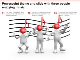 Powerpoint Theme And Slide With Three People Enjoying Music