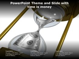 Powerpoint Theme And Slide With Time Is Money