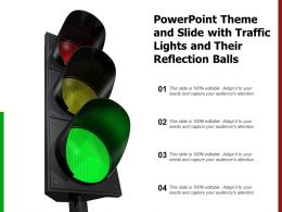 Powerpoint Theme And Slide With Traffic Lights And Their Reflection Balls