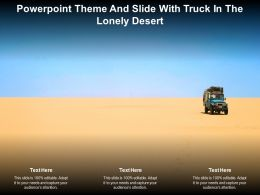 Powerpoint Theme And Slide With Truck In The Lonely Desert