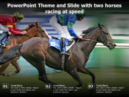 Powerpoint Theme And Slide With Two Horses Racing At Speed