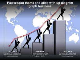 Powerpoint Theme And Slide With Up Diagram Graph Business