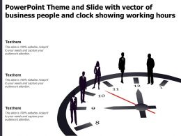 Powerpoint Theme And Slide With Vector Of Business People And Clock Showing Working Hours