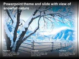 Powerpoint Theme And Slide With View Of Snowfall Nature