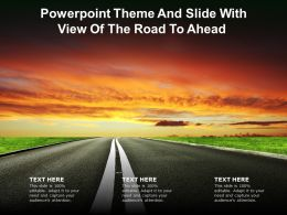 Powerpoint Theme And Slide With View Of The Road To Ahead