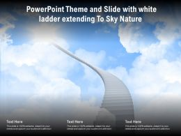 Powerpoint Theme And Slide With White Ladder Extending To Sky Nature