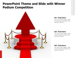 Powerpoint Theme And Slide With Winner Podium Competition