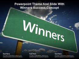 Powerpoint Theme And Slide With Winners Success Concept