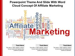 Powerpoint Theme And Slide With Word Cloud Concept Of Affiliate Marketing