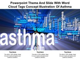 Powerpoint Theme And Slide With Word Cloud Tags Concept Illustration Of Asthma
