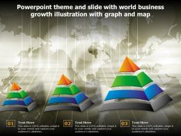 Powerpoint Theme And Slide With World Business Growth Illustration With Graph And Map
