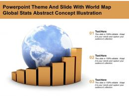 Powerpoint Theme And Slide With World Map Global Stats Abstract Concept Illustration