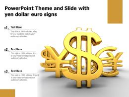 Powerpoint Theme And Slide With Yen Dollar Euro Signs