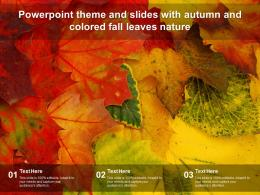 Powerpoint Theme And Slides With Autumn And Colored Fall Leaves Nature