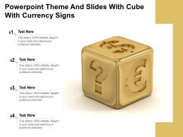 Powerpoint Theme And Slides With Cube With Currency Signs