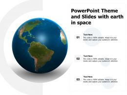Powerpoint Theme And Slides With Earth In Space
