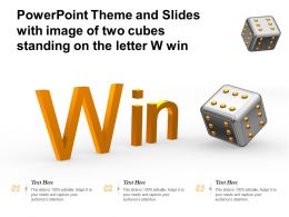 Powerpoint Theme And Slides With Image Of Two Cubes Standing On The Letter W Win